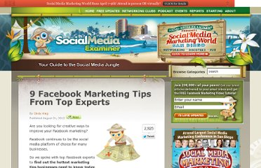 http://www.socialmediaexaminer.com/9-facebook-marketing-tips-from-top-experts/