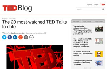 http://blog.ted.com/2012/08/21/the-20-most-watched-ted-talks-to-date/