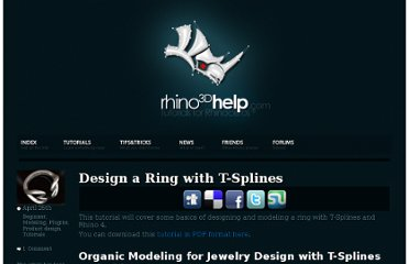 http://www.rhino3dhelp.com/tutorials/designing-a-ring-with-t-splines/
