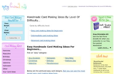 http://www.making-handmade-cards.com/card-making/handmade-card-making-ideas-by-level-of-difficulty/#any2