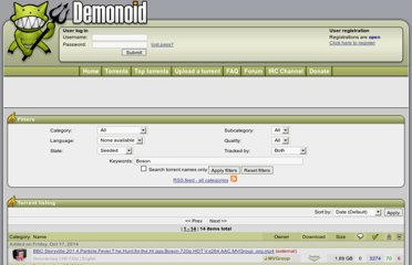 http://www.demonoid.com/files/?category=0&subcategory=All&quality=All&seeded=0&external=2&query=Boson&uid=0&sort=H