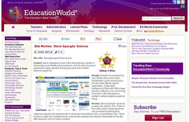 http://www.educationworld.com/a_tech/site-reviews/steve-spangler-science.shtml