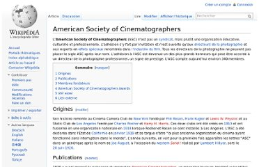 http://fr.wikipedia.org/wiki/American_Society_of_Cinematographers