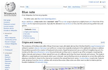 http://en.wikipedia.org/wiki/Blue_note