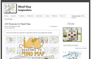 http://www.mindmapinspiration.com/100-reasons-to-mind-map-paul-foreman/