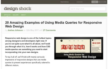 http://designshack.net/articles/css/20-amazing-examples-of-using-media-queries-for-responsive-web-design/