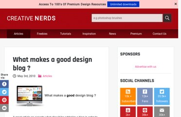 http://creativenerds.co.uk/articles/what-makes-a-good-design-blog/