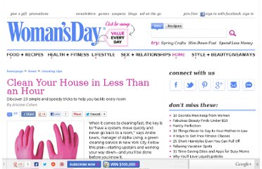 http://www.womansday.com/home/cleaning-tips/clean-your-house-in-less-than-an-hour-125035