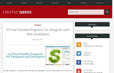 http://creativenerds.co.uk/freebies/25-free-portable-programs-for-designers-and-web-developers/