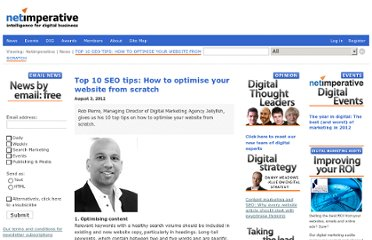 http://www.digitalstrategyconsulting.com/netimperative/news/2012/08/top_10_seo_tips_how_to_optimis_1.php