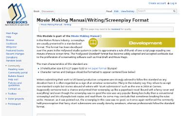 http://en.wikibooks.org/wiki/Movie_Making_Manual/Writing/Screenplay_Format