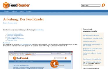 http://www.feedreader.com/de/documentation