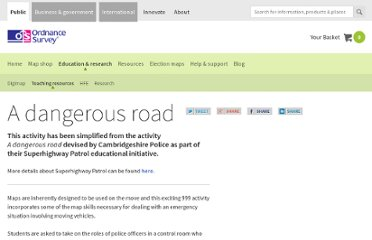 http://www.ordnancesurvey.co.uk/oswebsite/education-and-research/teaching-resources/a-dangerous-road/index.html