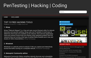 http://securityblog.gr/1127/top-15-open-sourcefree-securityhacking-tools/