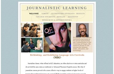 http://journalisticlearning.org/journalisticlearning.org/Welcome.html