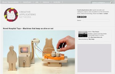 http://www.creativeapplications.net/objects/novel-hospital-toys-machines-that-keep-us-alive-or-not/