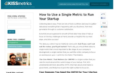 http://blog.kissmetrics.com/single-startup-metric/
