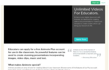http://animoto.com/education