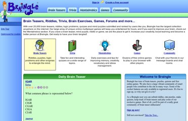Brain Teasers, Puzzles, Riddles, Trivia and Games