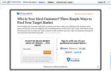 http://www.marketingprofs.com/articles/2012/8753/who-is-your-ideal-customer-three-simple-ways-to-find-your-target-market