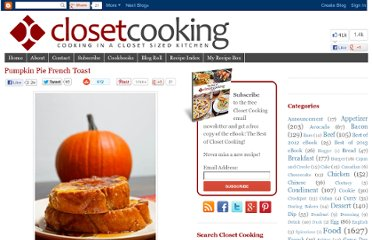 http://www.closetcooking.com/2009/11/pumpkin-pie-french-toast.html