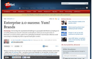 http://www.zdnet.com/blog/hinchcliffe/enterprise-2-0-success-yum-brands/1964