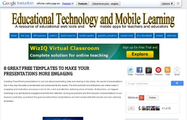 http://www.educatorstechnology.com/2012/08/8-great-free-templates-to-make-your.html