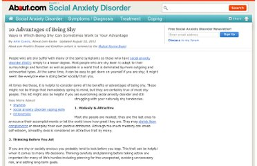 http://socialanxietydisorder.about.com/od/overviewofsad/a/10-Advantages-Of-Being-Shy.htm