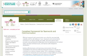 http://www.patientsafetyinstitute.ca/English/toolsResources/teamworkCommunication/Pages/default.aspx