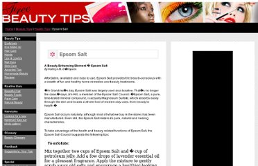 http://free-beauty-tips.glam.com/epsomsalt.html