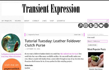 http://transientexpression.com/tutorial-tuesday-leather-foldover-clutch/