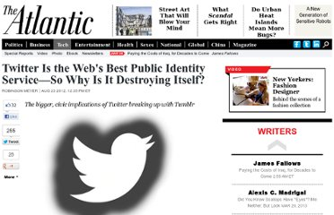 http://www.theatlantic.com/technology/archive/2012/08/twitter-is-the-webs-best-public-identity-service-151-so-why-is-it-destroying-itself/261497/