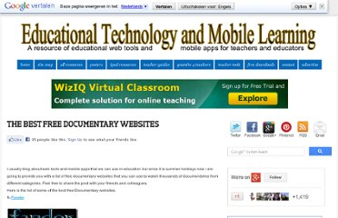 http://www.educatorstechnology.com/2011/07/best-free-documentary-websites.html