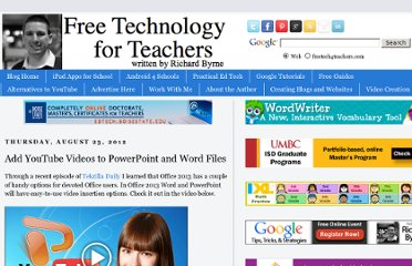 http://www.freetech4teachers.com/2012/08/add-youtube-videos-to-powerpoint-and.html#.UDbQ5WgYJRs.facebook