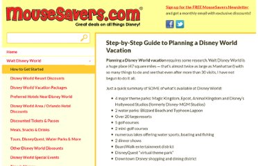 http://www.mousesavers.com/walt-disney-world-vacation-discounts-and-deals/step-by-step-guide-to-planning-a-disney-world-vacation/