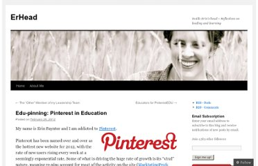 http://erinpaynter.org/2012/02/26/edu-pinning-pinterest-in-education/