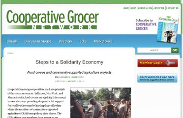 http://www.cooperativegrocer.coop/articles/2011-08-28/steps-solidarity-economy