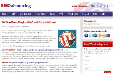 http://seooutsourcingcompany.co.uk/10-wordpress-plugins-we-couldnt-live-without