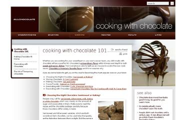 http://www.allchocolate.com/cooking/chocolate_101/