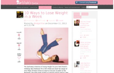 http://girlsguideto.com/article/10-ways-lose-weight-week