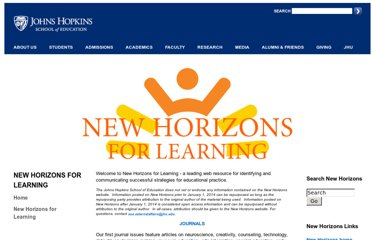 http://education.jhu.edu/PD/newhorizons/