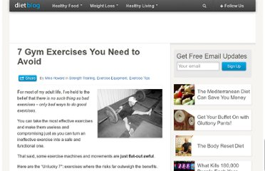 http://www.diet-blog.com/08/7_gym_exercises_you_need_to_avoid.php