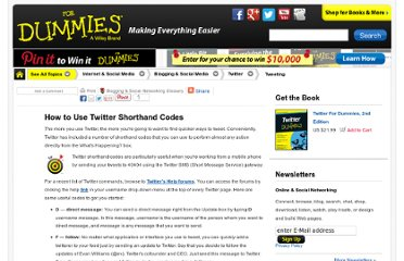 http://www.dummies.com/how-to/content/how-to-use-twitter-shorthand-codes.html