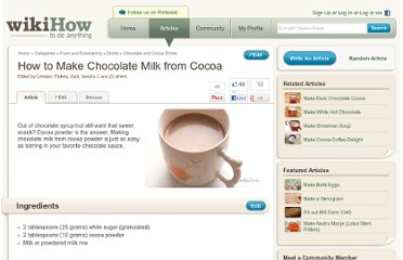 http://www.wikihow.com/Make-Chocolate-Milk-from-Cocoa