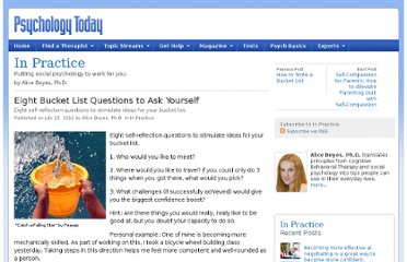 http://www.psychologytoday.com/blog/in-practice/201207/eight-bucket-list-questions-ask-yourself