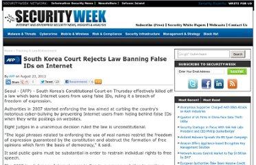 http://www.securityweek.com/south-korea-court-rejects-law-banning-false-ids-internet