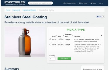 https://www.inventables.com/technologies/stainless-steel-coating