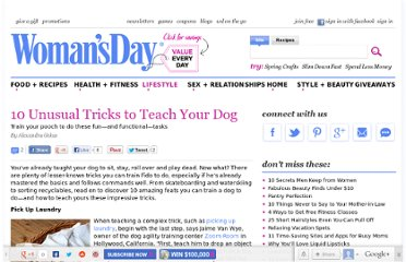 http://www.womansday.com/life/pet-care/10-unusual-tricks-to-teach-your-dog-123518
