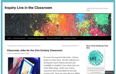http://literacyspark.wordpress.com/2012/08/25/classroom-jobs-for-the-21st-century-classroom/