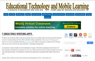 http://www.educatorstechnology.com/2012/08/7-great-ipad-writing-apps.html